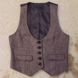 Gap tweed vest